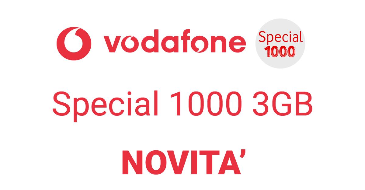 Vodafone Special 1000 3gb E Special International Tra Le