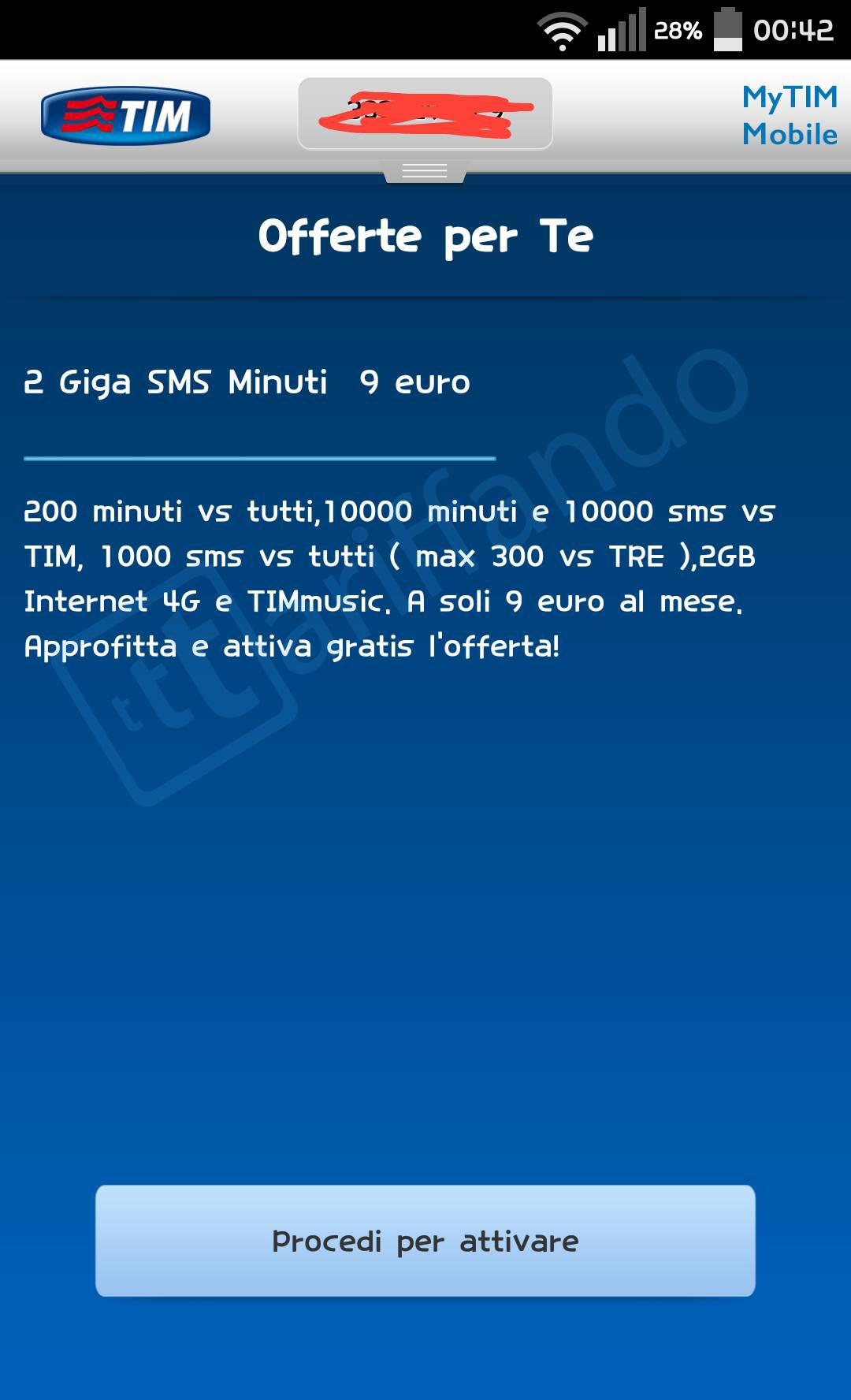 TIM 2 Giga SMS Minuti